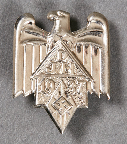"Third Reich ""DJH 1937"" Pin Back"