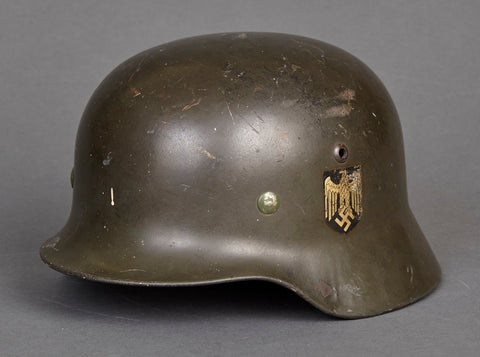 WWII German Army Model 1935 Double Decal Helmet