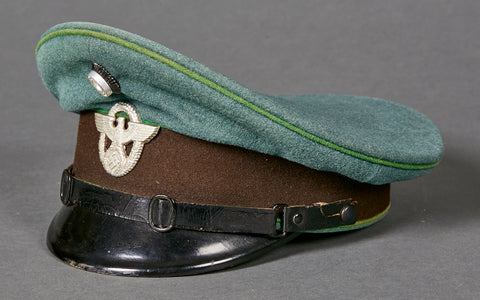 WWII German Municipal Police Other Ranks Visor Cap, Named