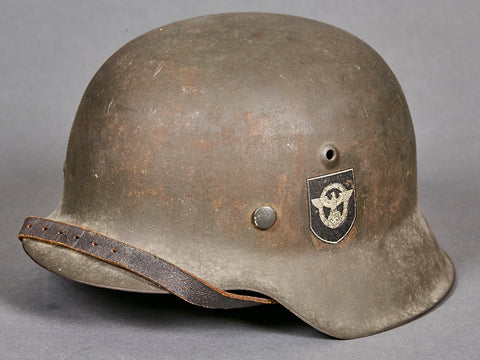 German WWII Model 42 Combat Police Helmet