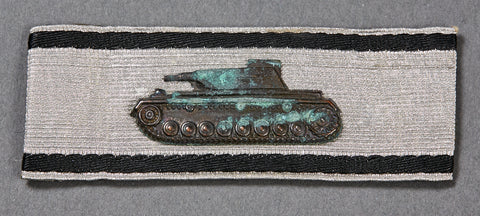 WWII German Tank Destruction Badge in Silver with Provenance