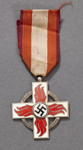 Fire Brigade Medal Second Class w/Ribbon