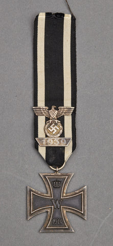 WWI Iron Cross 2nd Class w/Ribbon and WWII Spange