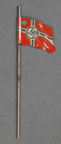 WWII German Small Metal Flags for Elastolin Figure