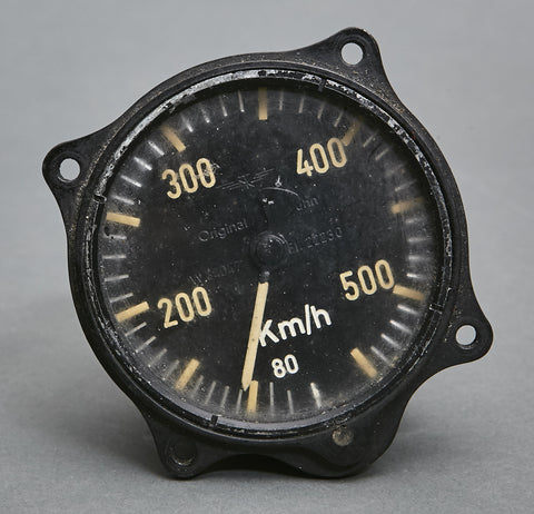 WWII German HE-111 Air Speed Indicator (Speedometer)