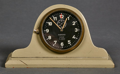 German WWII Luftwaffe Desk Mounted Eight Day Clock