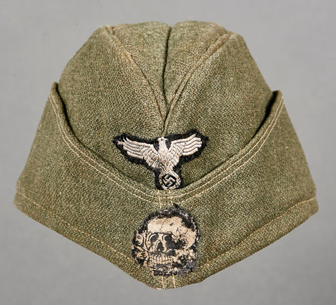 "WWII German Waffen SS Side Cap for ""Other Ranks"" Personnel"