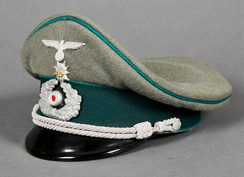 WWII German Army Officer Visor for Admin/Mountain Troop by eReL