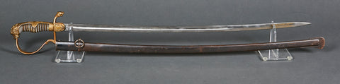 German Imperial Officer's Sword with Lion's Head
