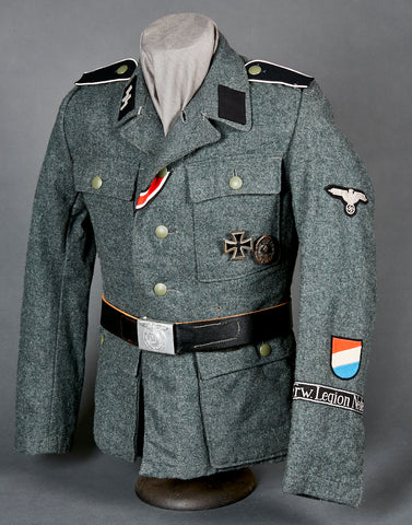 WWII German Waffen SS Model 1943 Service Tunic for Dutch Volunteer (Frw. Legion Nederland) Other Ranks Personnel