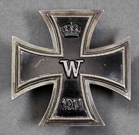 WWI German Iron Cross 1st Class, Screw Back Example