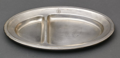 Large Silver Plated Oval Dinner Tray from the Platterhof