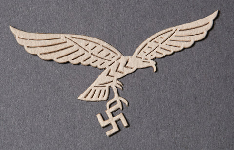 Cardboard Template for German Luftwaffe Eagle