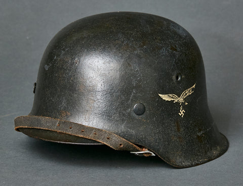 WWII German Model 1942 Luftwaffe Single Decal Helmet