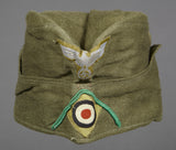 WWII German DAK Tropical Side Cap for Other Ranks Panzer Grenadier Personnel, by Clemens Wagner