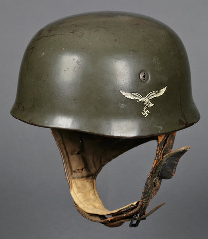 """Prototype"" Model 1938 Double Decal German Luftwaffe Paratrooper Helmet for Jumpmaster"