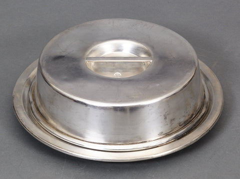 Silver Plated Covered Serving Platter from the Platterhof