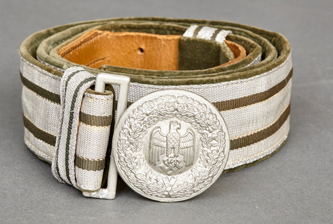 German Army Officer's Brocade Belt and Buckle Set