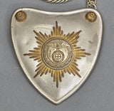 First Model Nazi SA/SS Standard Bearer's Gorget