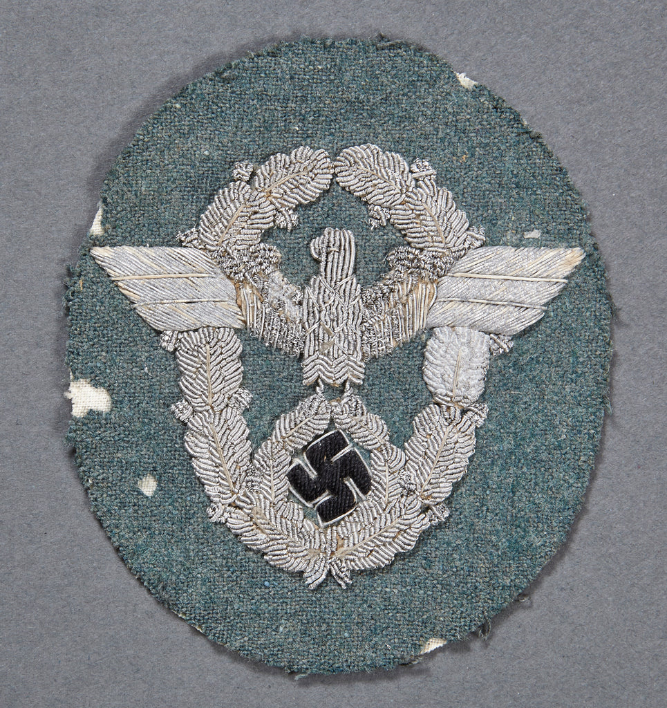 WWII German Police Officer Sleeve Eagle