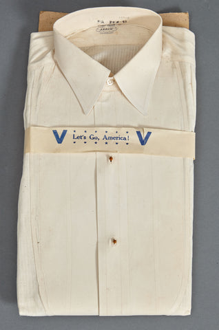 WWII era Civilian Shirt w/Patriotic Laundry Sleeve