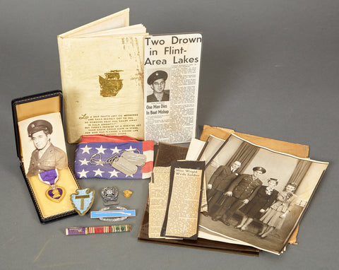 WWII U.S. Purple Heart Grouping 36th Infantry Division G.I.