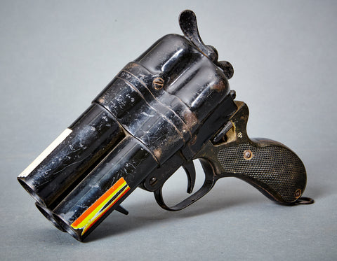 RARE Japanese Type 90 Triple Barrel Flair Pistol