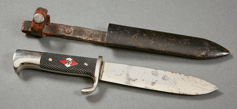German WWII Hitler Youth Knife with Motto