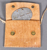 WWII German Dog Tag for Police Signal's Battalion with Leather Pouch