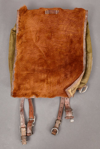 WWII German Pony Fur Backpack