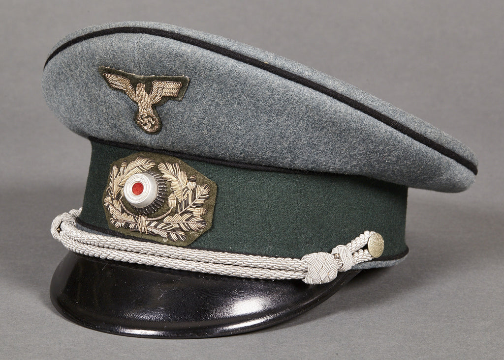 cc144fc4392 WWII German Army Pioneer Officer s Private Purchase Visor Cap – The  Ruptured Duck