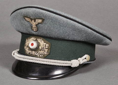WWII German Army Pioneer Officer's Private Purchase Visor Cap