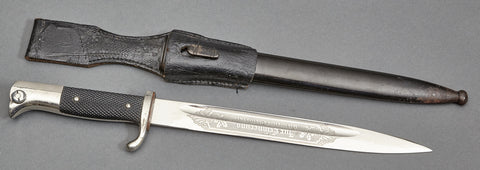WWII German Engraved Bayonet by Unknown Maker