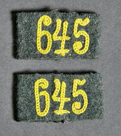 WWII German Army Slip-On Tab for Shoulder Boards