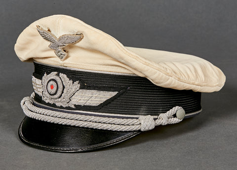 WWII German Luftwaffe Officer Summer Visor Cap, Private Purchase by eReL