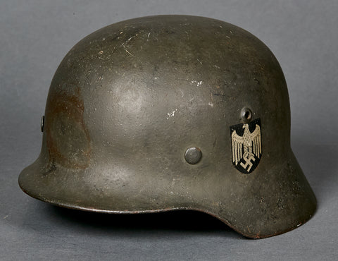 WWII German Army Model 1935 Single Decal Helmet