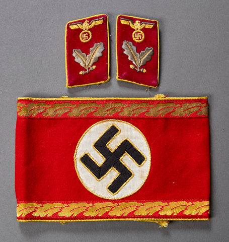 WWII German Reich's Level Political Leader Armband and Collar Tab Grouping
