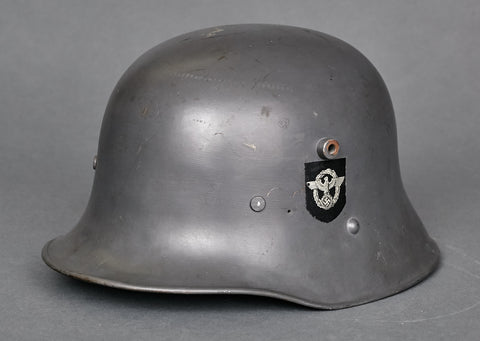 Model 1916 Berndorfer German Police Double Decal Transitional Helmet