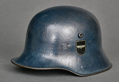 German Model 1918 Bahnschutz Polizei Double Decal Helmet