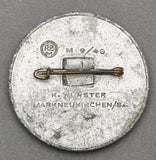 """Reichsparteitag 1939""; Metal (Zinc Alloy), Worn Finish"