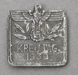 """Kreistag 1939"" Tinnie; Solid-Backed, Metal; Maker Marked"