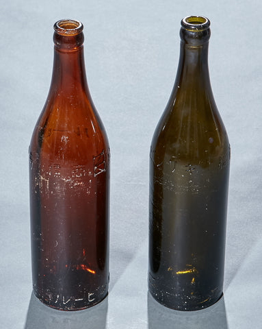 Japanese WWII Beer Bottle from Truk Lagoon Wreck