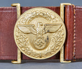WWII German Political Leader Belt and Buckle