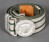 WWII German Forestry Official's Belt and Buckle Set