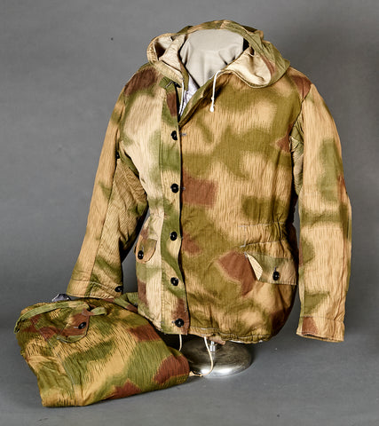 WWII German Tan and Water Camouflage Winter Parka and Trouser Set
