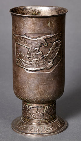 WWII German Luftwaffe Honor Goblet-Awarded to Oberleutnant (then leutnant) Otto Ertel