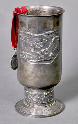 WWII German Luftwaffe Honor Goblet-Awarded to Oberleutnant Fritz Eyer