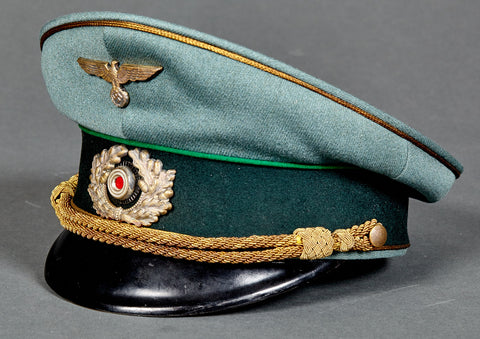 WWII German Army Administration General Major Named Waffenrock with  Trousers and eReL Visor Cap 77850f376ac