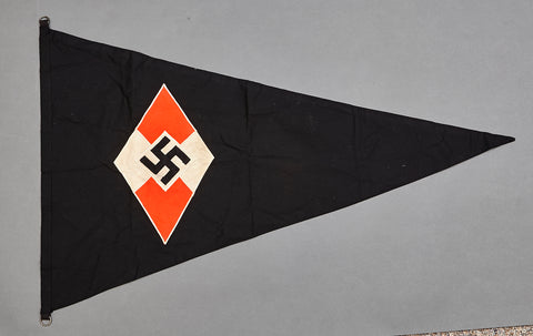 Third Reich Era Hitler Youth Pennant