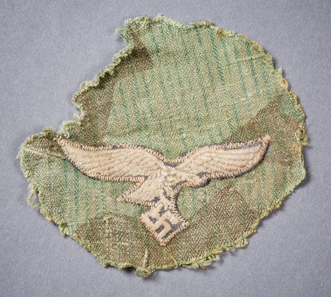 WWII German Luftwaffe Eagle Cut From Smock